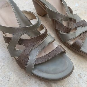 Dansko slip on leather sandals size 40